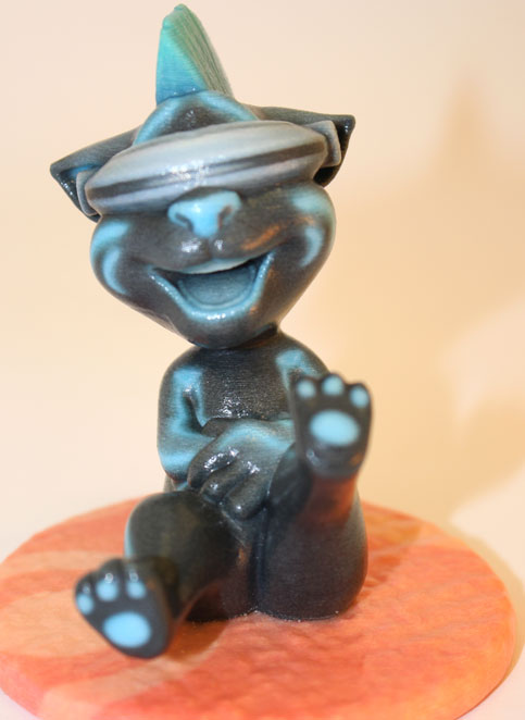Colored 3D printing